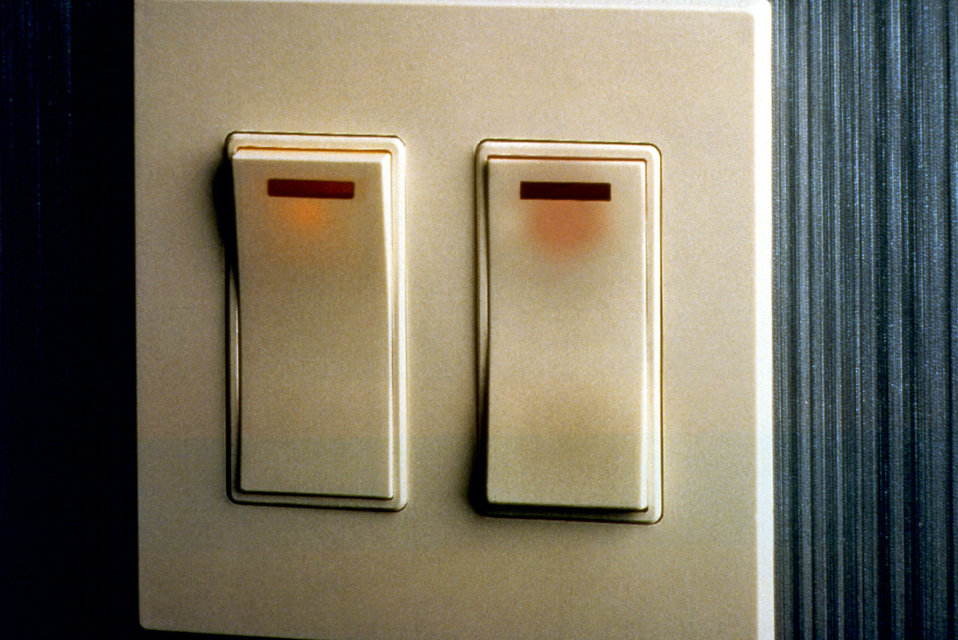 This image depicted two rocker panel-style light switches, which for those with mobility, or hand, finger, or arm difficulties, are much eas