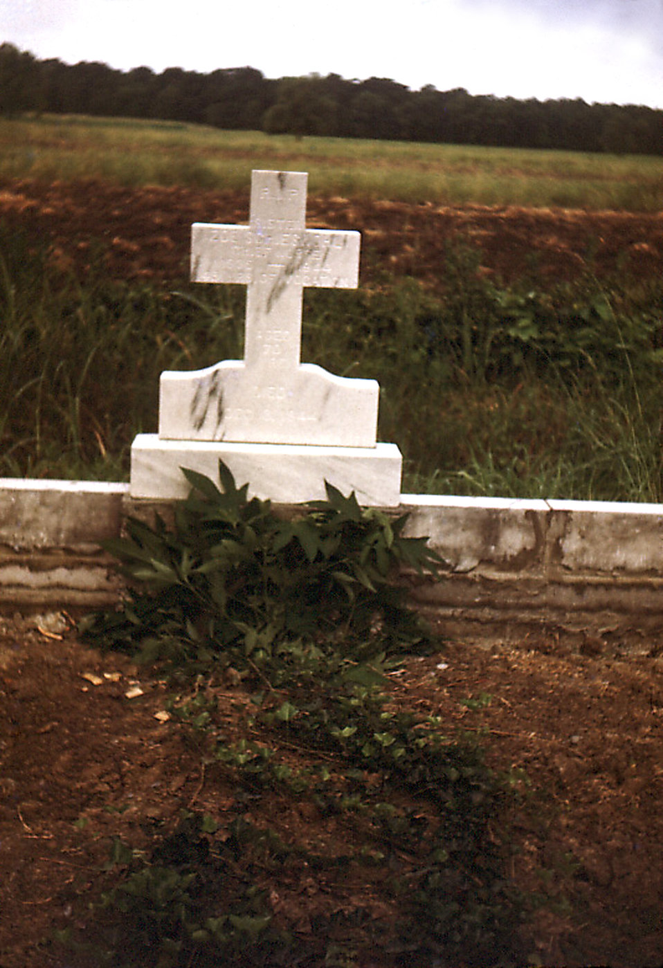This historic image depicted a the grave site commemorating the passing of the former Carville, Louisiana Leprosarium Head Nurse, Sister Zoe