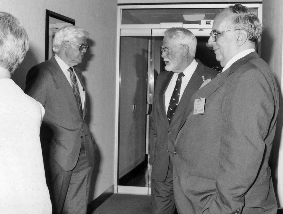 This 1992 photograph, taken during the Centers for Disease Control's 46th anniversary cermonies, showed (left to right) William Watson with
