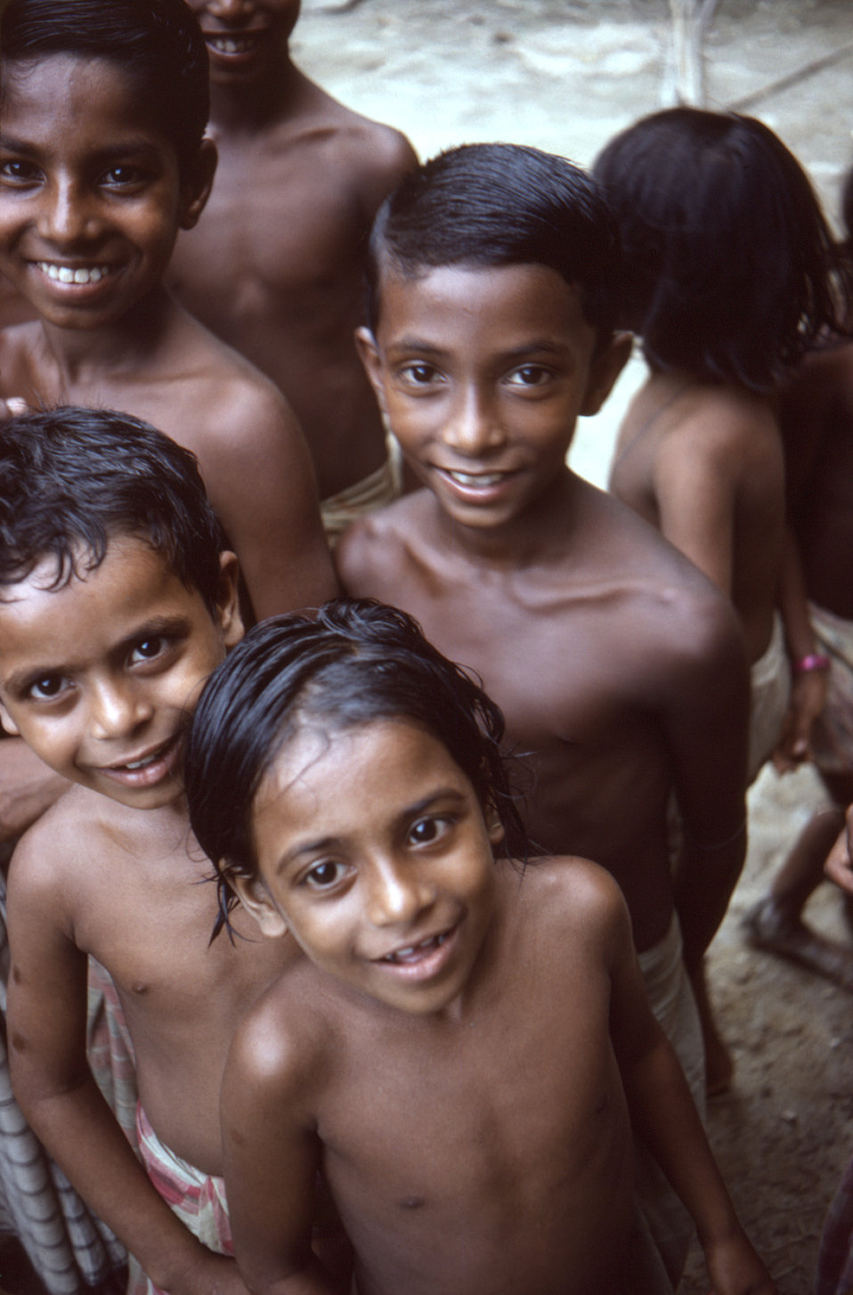 This photograph depicted a group of children who were living in the Sylet District of north-eastern Bangladesh, during a national smallpox s
