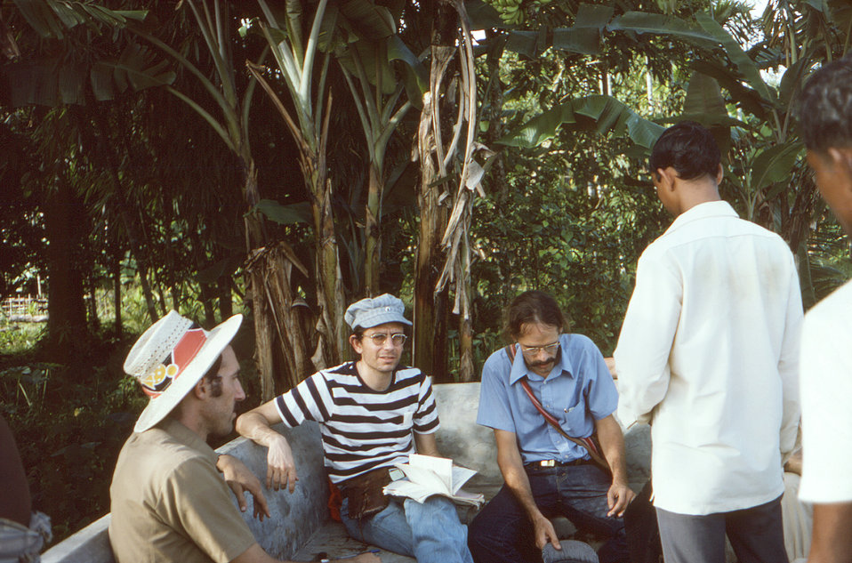 Depicted in this September, 1975 image, wearing a blue shirt, was Dr. Stephen Jones, who was in the process of teaching eradication team par