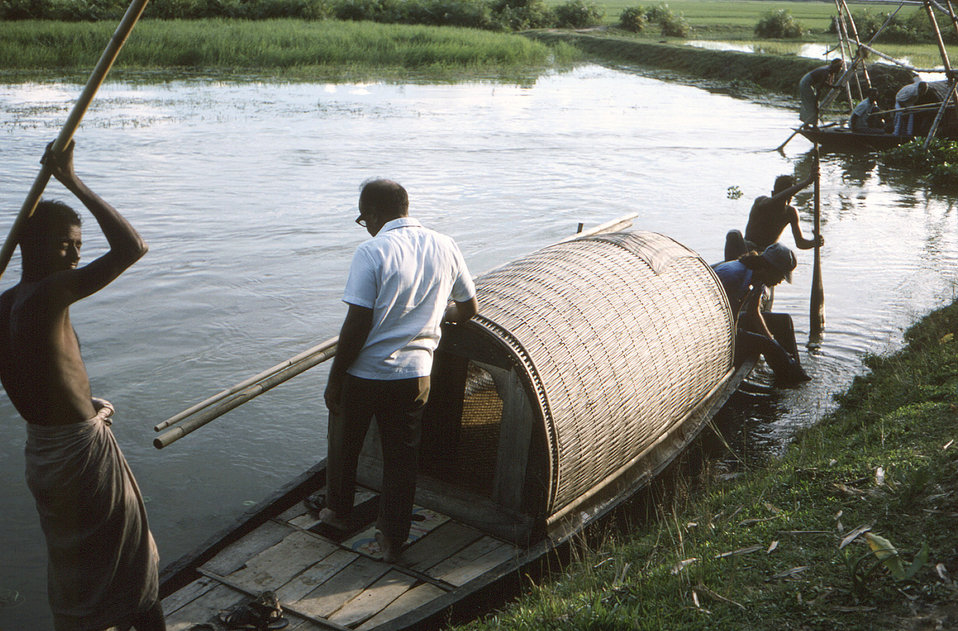 This 1975 photograph was captured during the smallpox eradication efforts, which in this case, were underway in the north-eastern Bangladesh