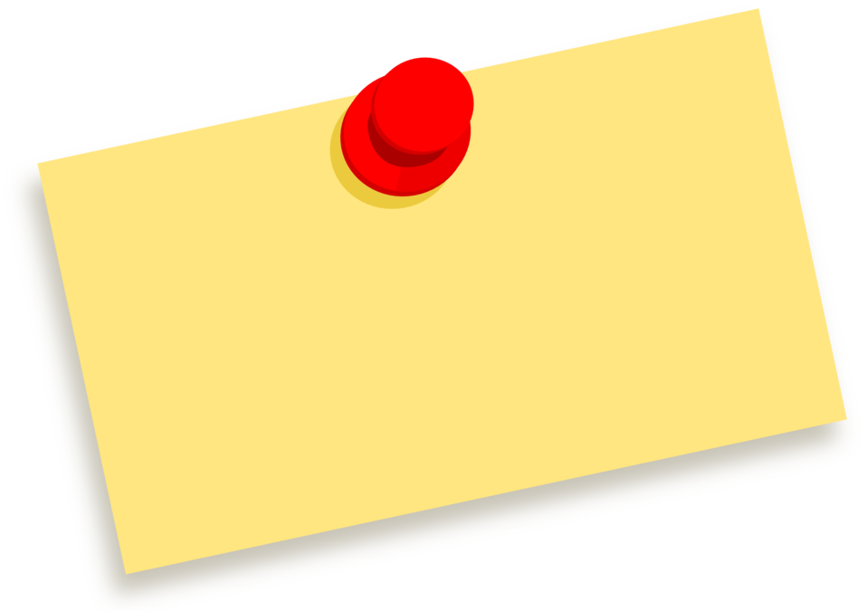 Public Domain Clip Art Image   Blank note with thumbtack ...