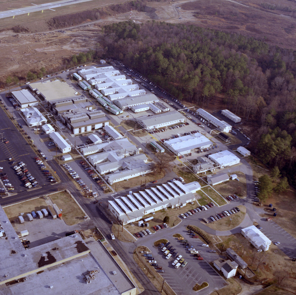 From an aerial perspective, this 1988 photograph depicted the Centers for Disease Control's Chamblee, Georgia campus.