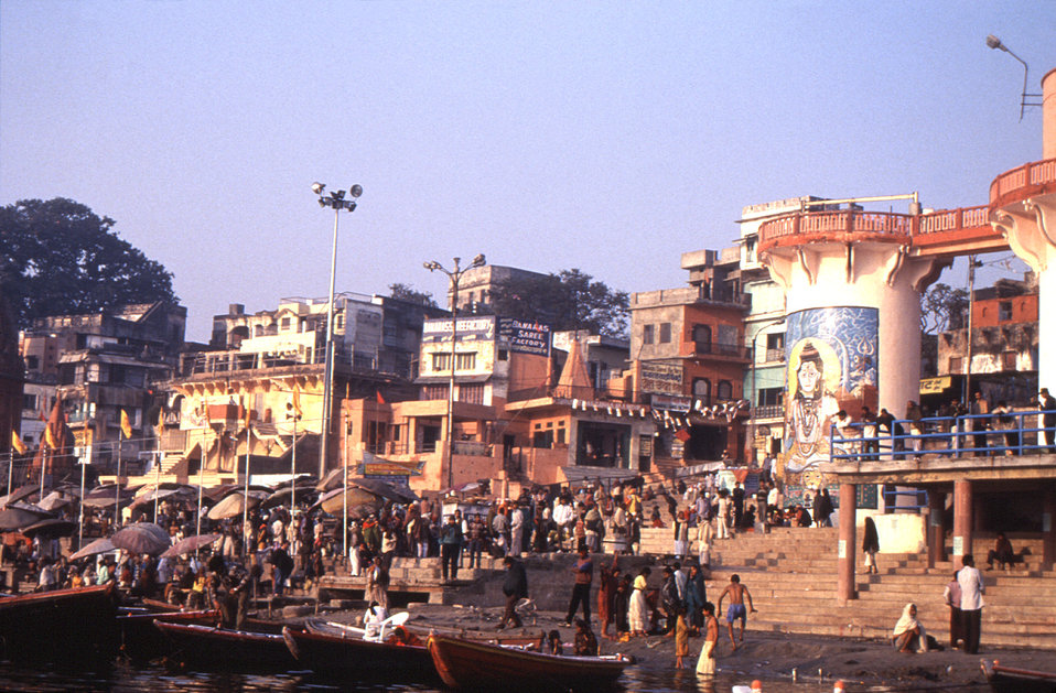 The Indian city of Varanasi is situated on the banks of the sacred Ganges River, and is one of the holiest places in India. On a daily basis