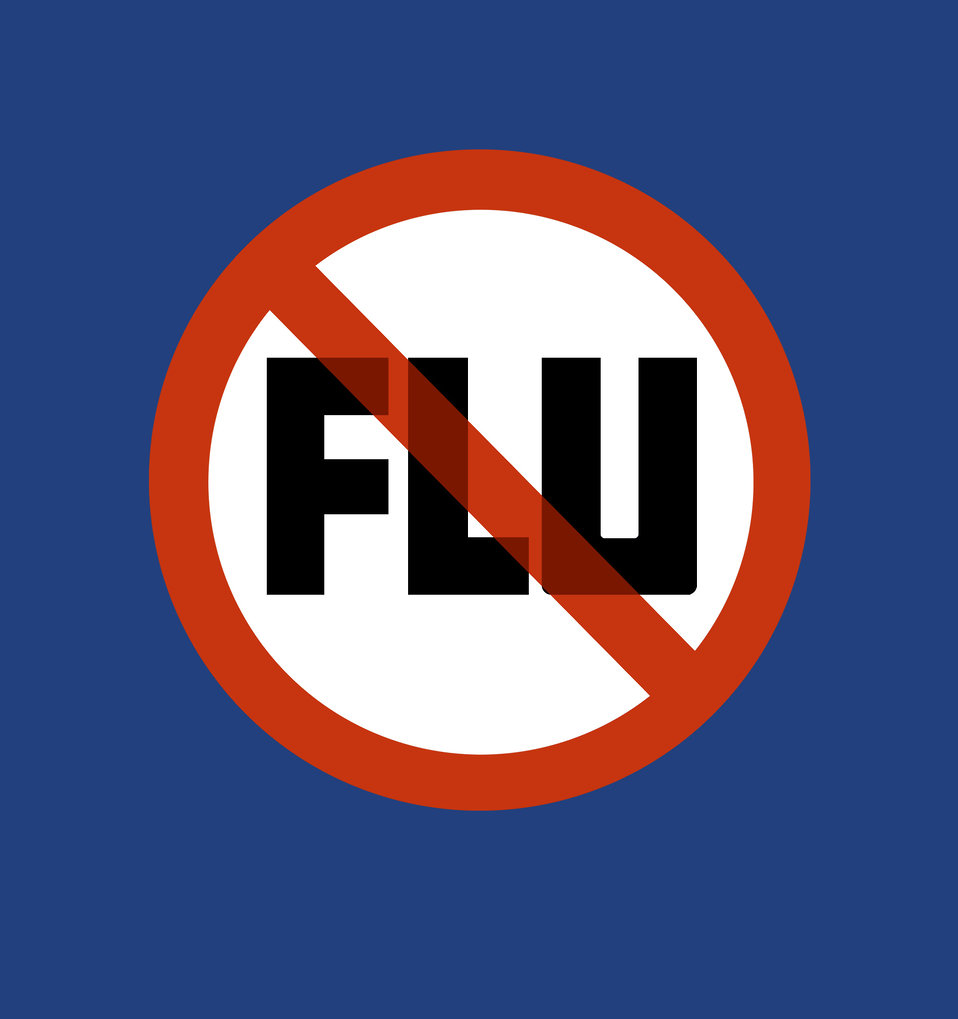 This signage represented the national symbol for the 1976 National Influenza Immunization Program.