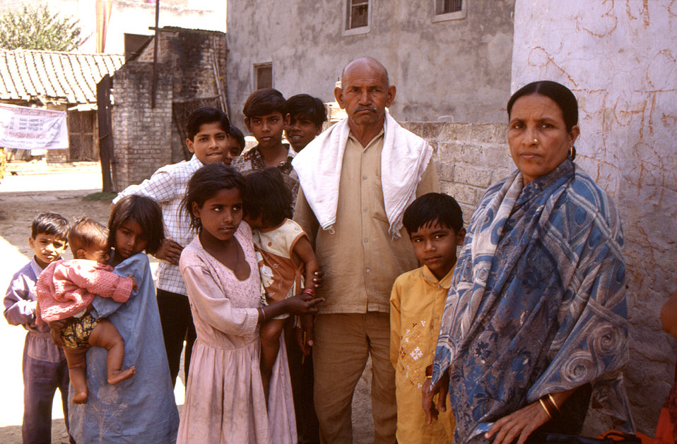 This 2000 photograph, provided by Chris Zahniser, B.S.N., R.N., M.P.H., depicted a typical Indian family that the Centers for Disease Contro