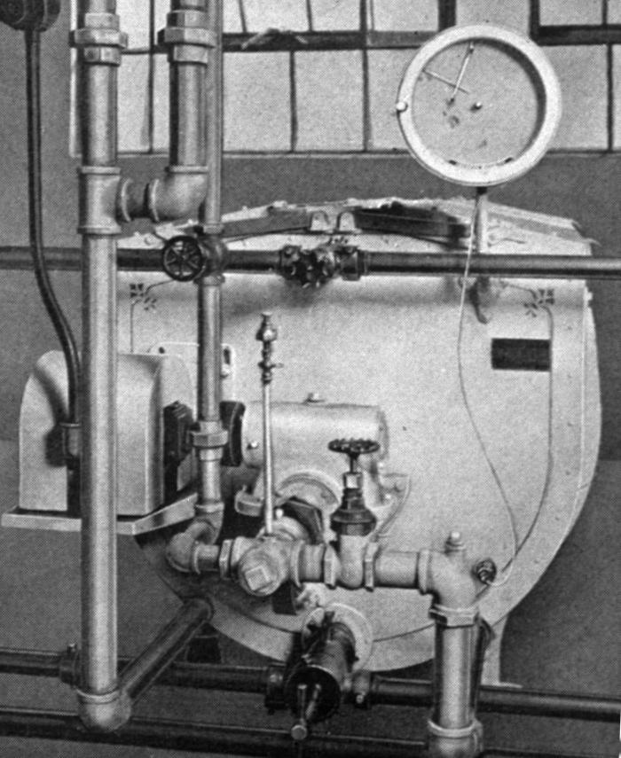 Depicted in this historic 1929 photograph was a three hundred-gallon Cherry Burrell twin-pasteurizer that was equipped with an American univ