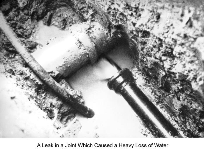 Typical of water and sewer line crossings, this historic 1939 photograph revealed structural details that can still be found in any contempo