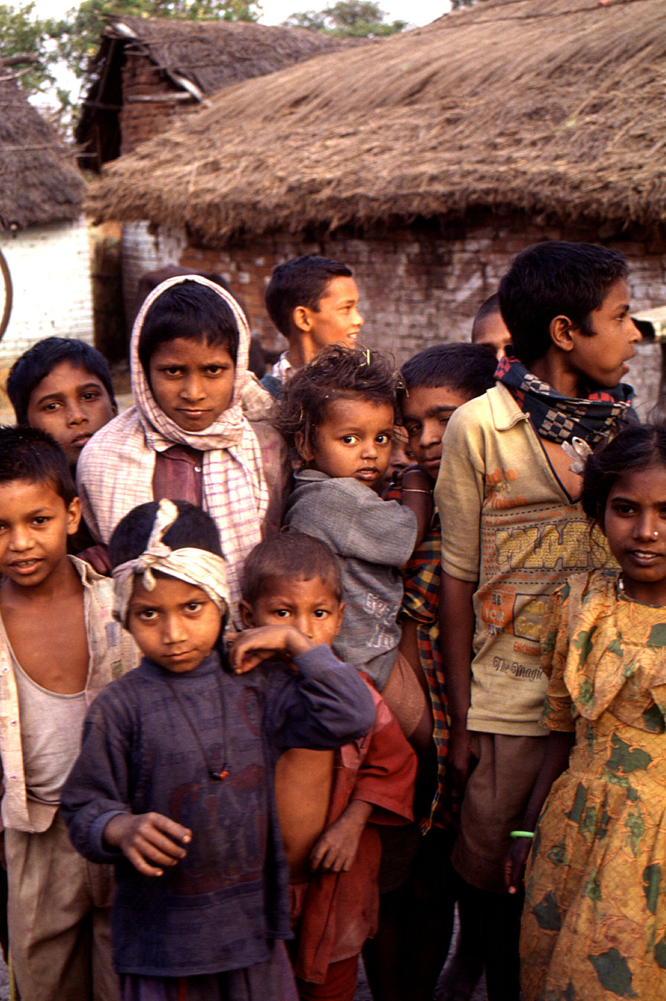 This 2000 photograph depicted a group of children who were residents of one of the towns into which the Stop Transmission of Polio (Stop) te
