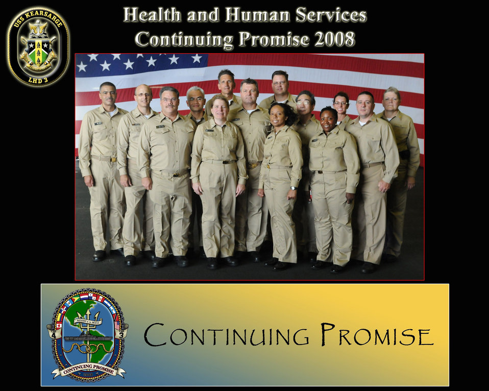 Photographed by a US Navy photographer, this image depicts United States Public Health Service (USPHS) officers who had been brought togethe