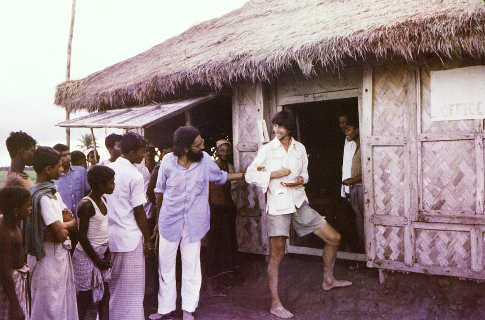 This image, captured September, 1975, depicted the Dr. Jason Weisfeld (U.S.A.), wearing a blue shirt, and wearing shorts, was Swedish-based
