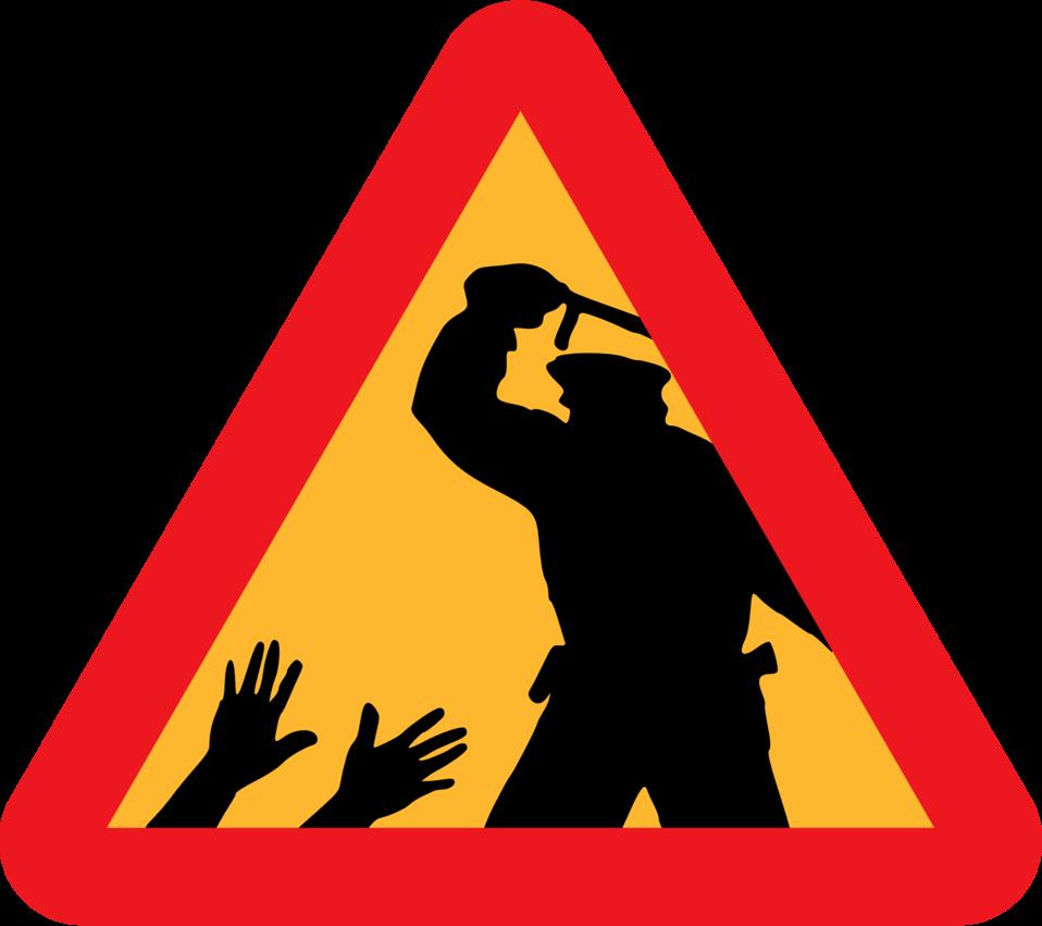 Warning for police brutality