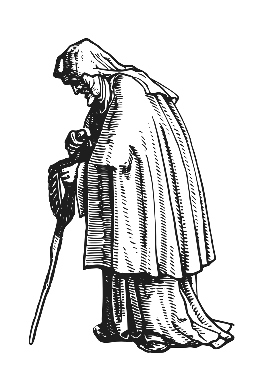 robed old woman