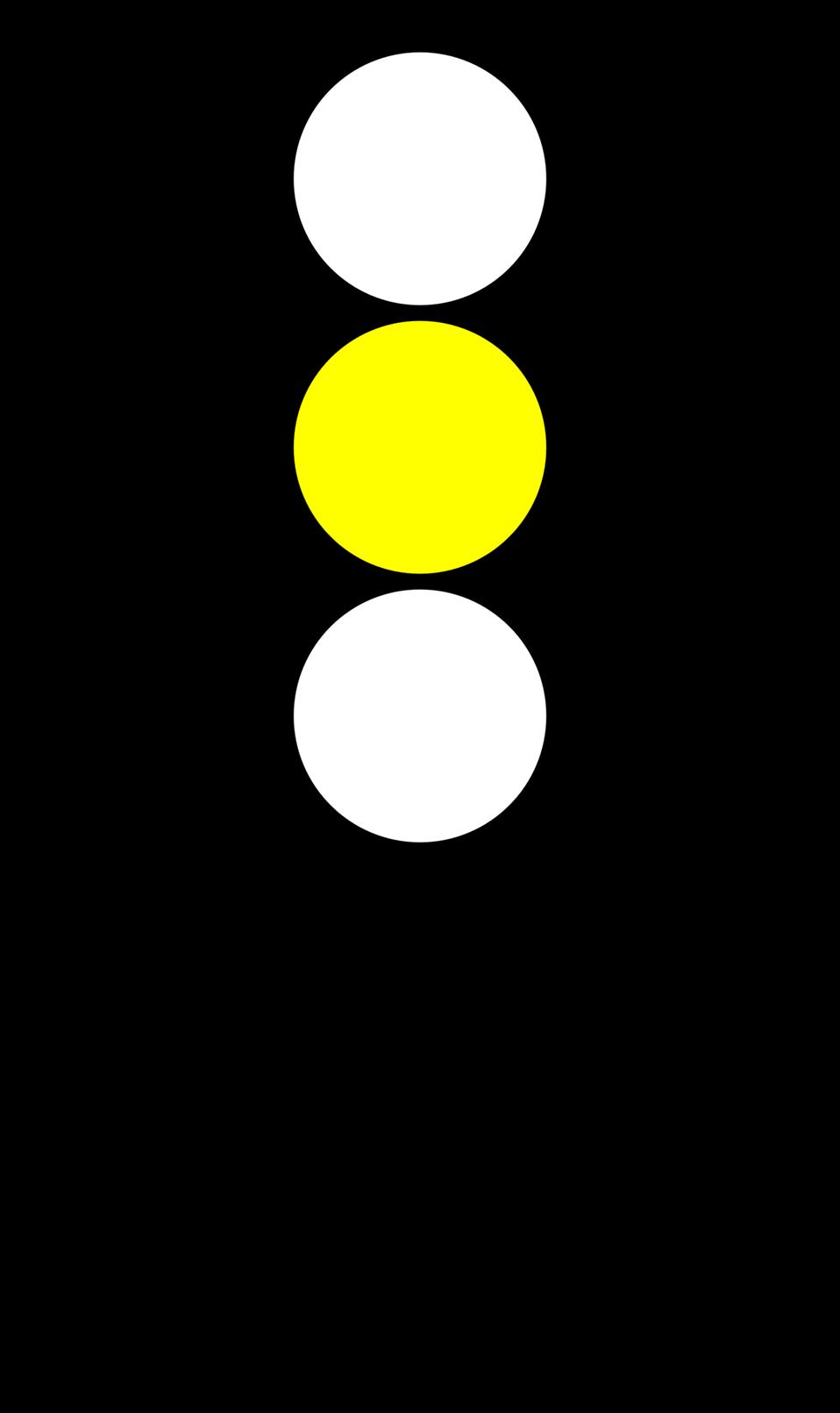 Traffic semaphore yellow light