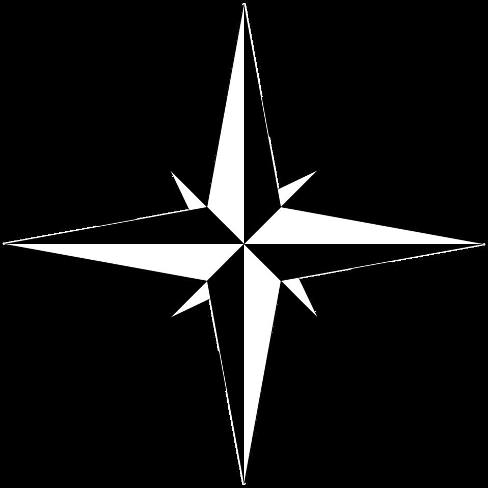 Compass Rose B&W