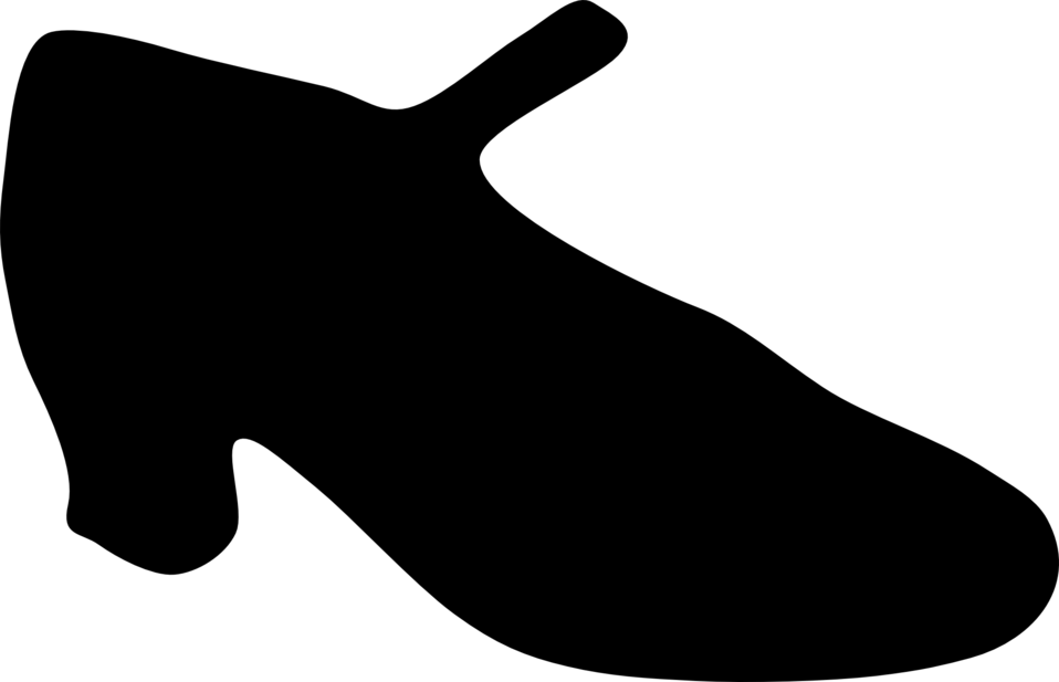 Woman shoe silhouette