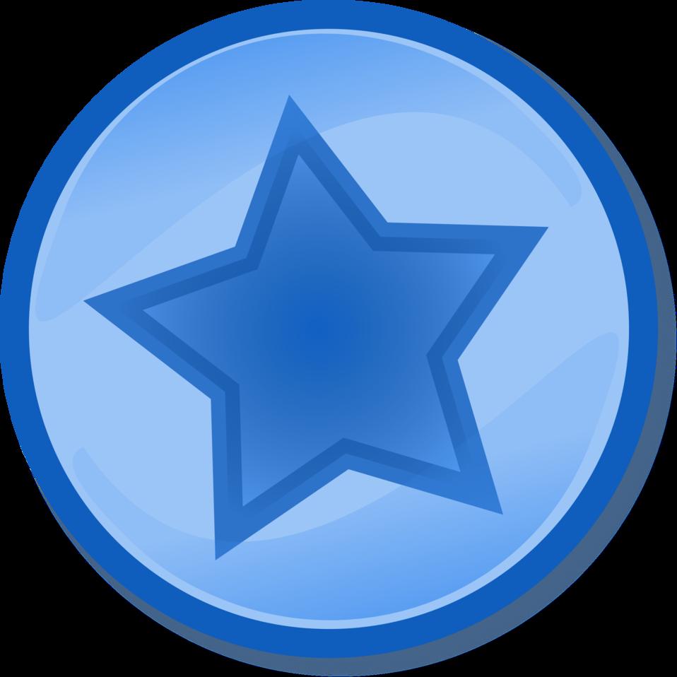 Blue circled star
