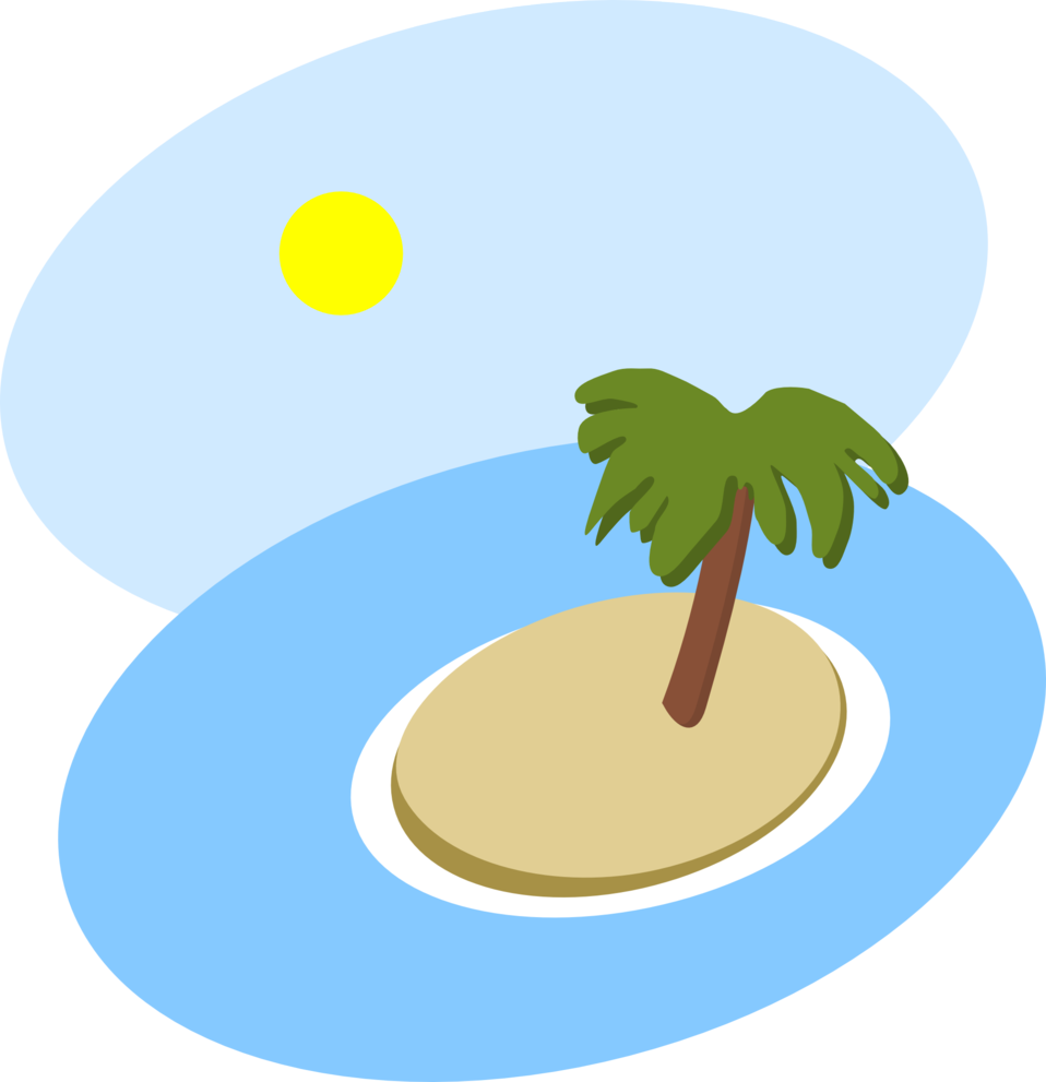 Oval island scene