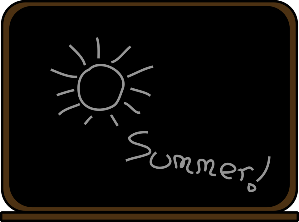 Summer school blackboard