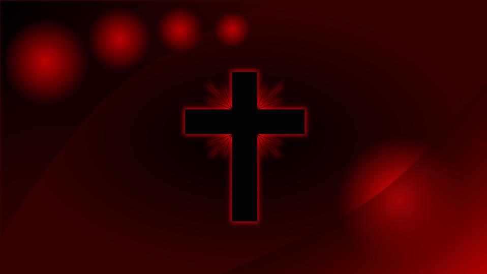Red Glowing Cross Wallpaper