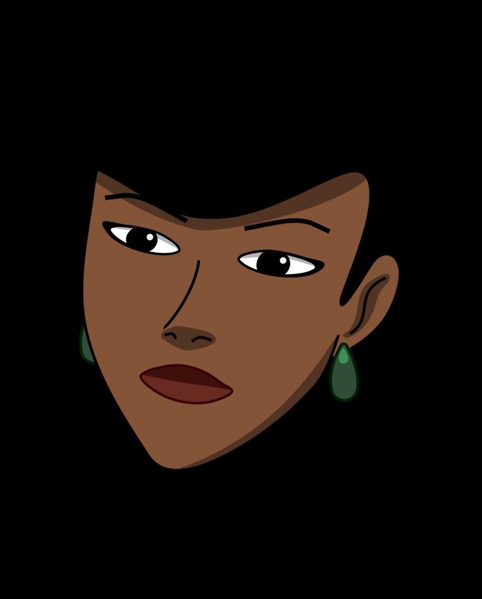 Woman head (dark)