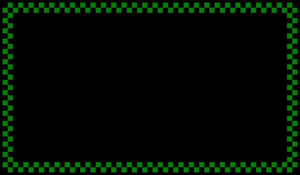 Green Checked Border