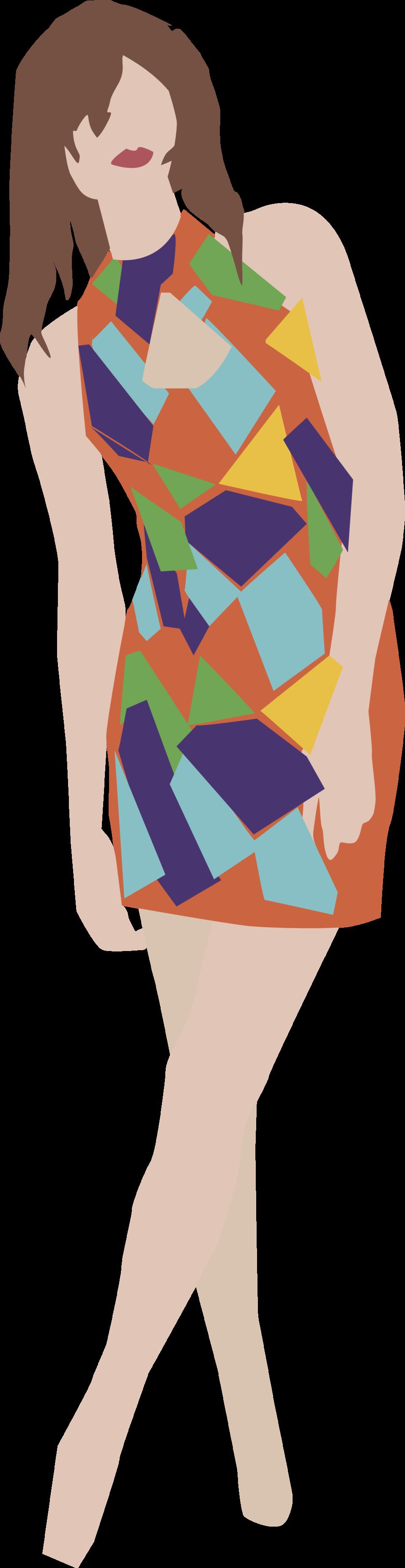 Girl in a dress.
