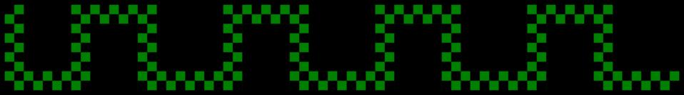 Divider - checked green snake shape