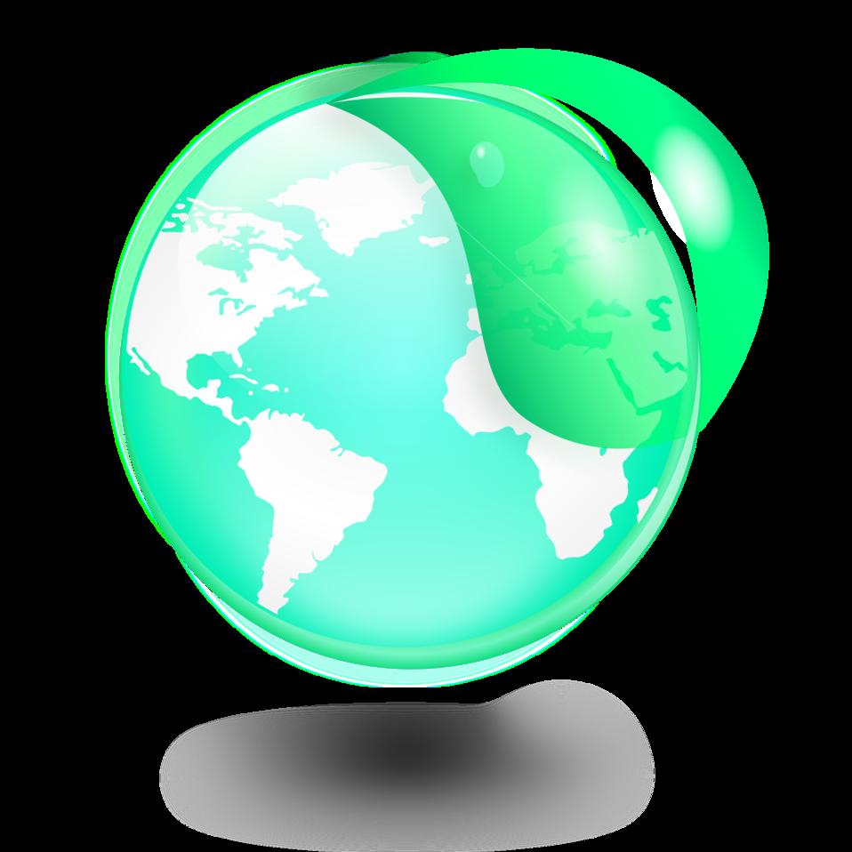 Environmental / Eco Globe & Leaf Icon