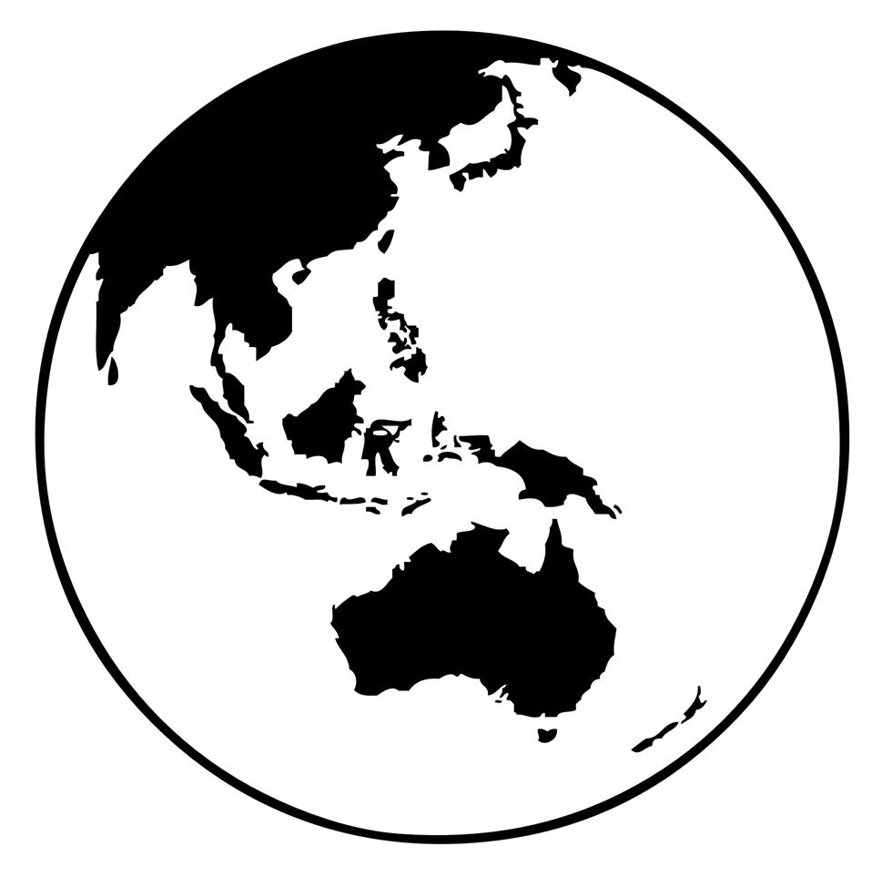 earth globe (oceania)