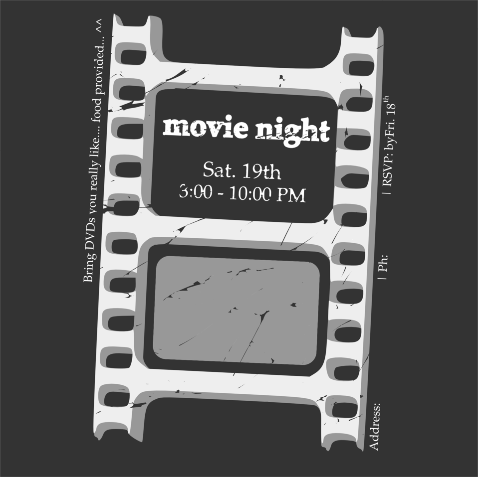Movie night ticket
