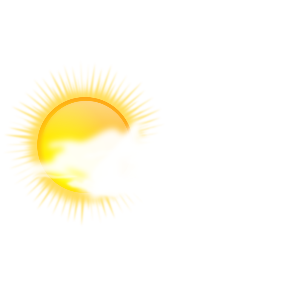 weather icon - sunny to cloudy