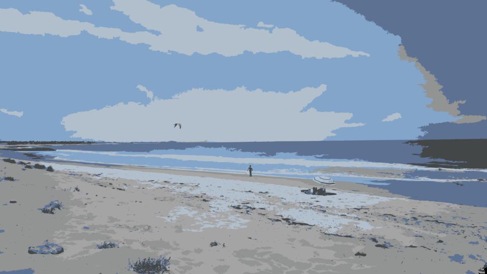 Beach Day Horizon