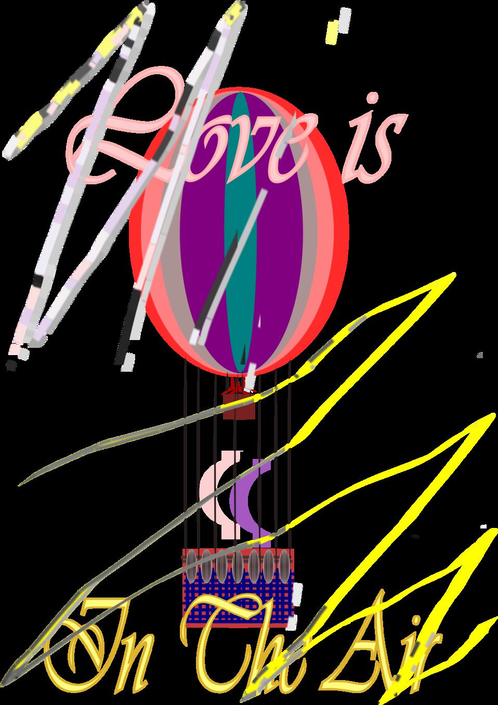 E-Card love is in the air Hot Air Balloon  08 SEP 2008