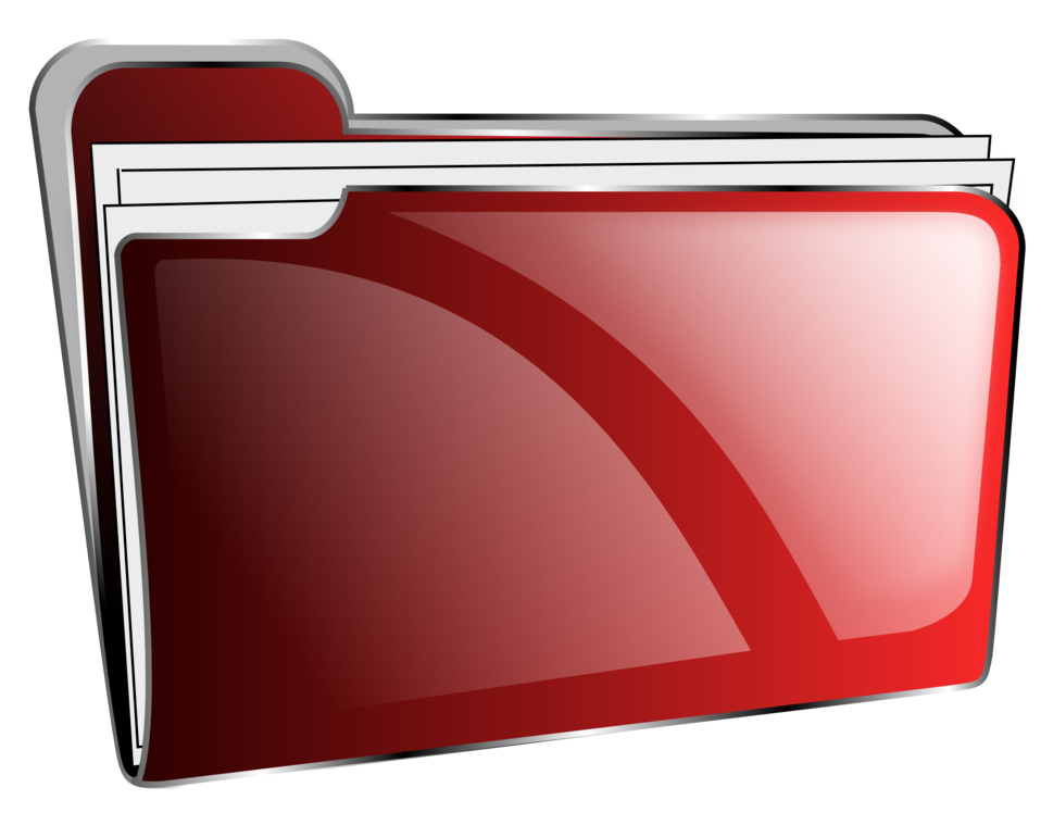 Folder icon red full