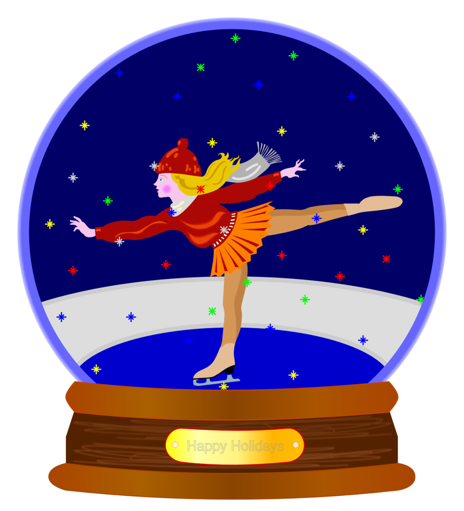 Animated Colored Snow Globe