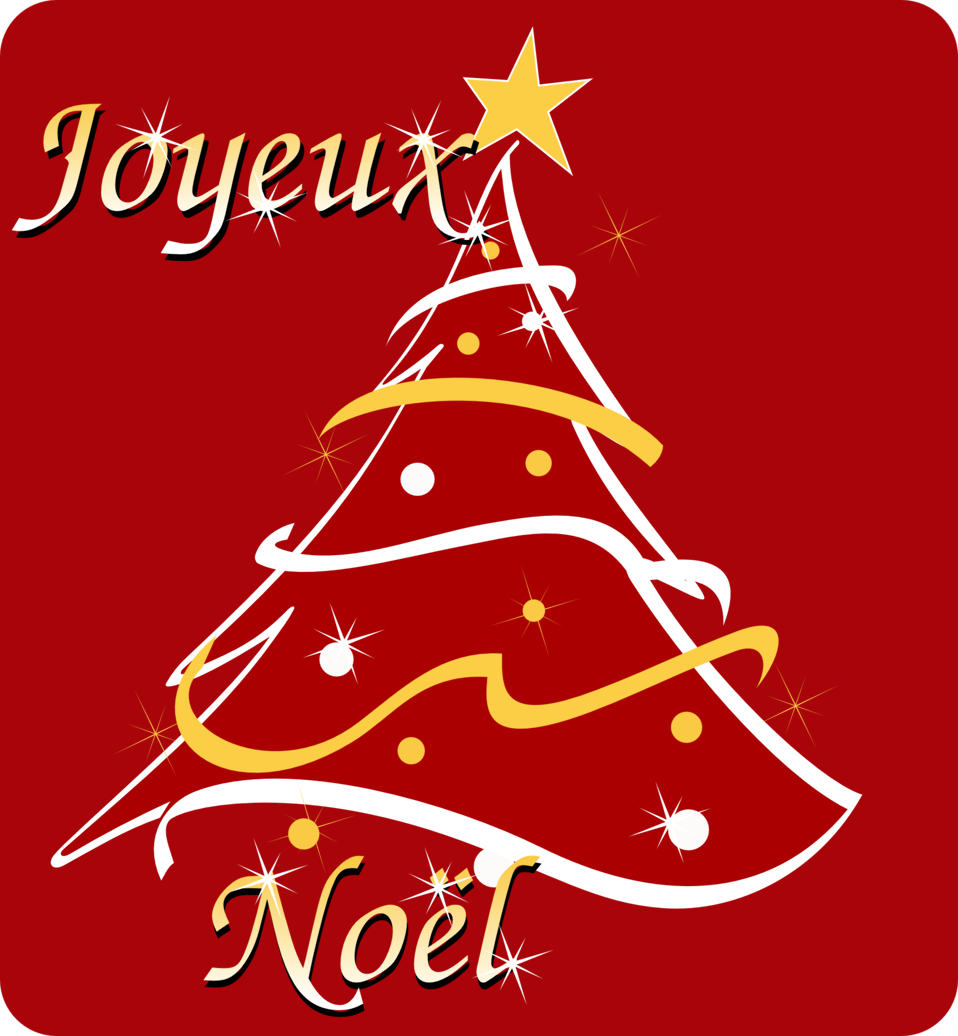 Joyeux Noël - Merry Christmas in french