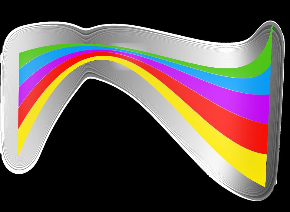 Shiny rainbow ribbon