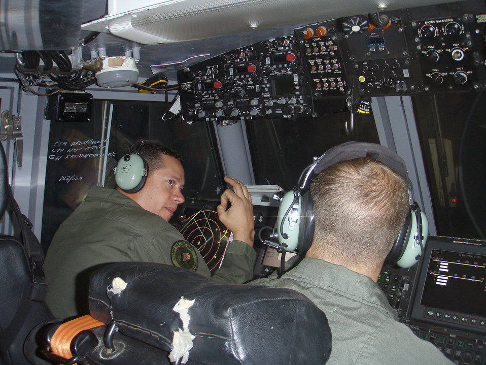 Photographed by U.S. Public Health Service (USPHS) Lt. Cmdr. Gary Brunette, this image was captured inside cockpit of a landing craft known
