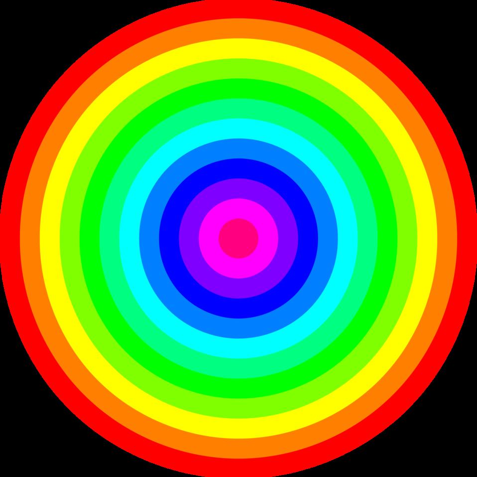 12 color rainbow circles