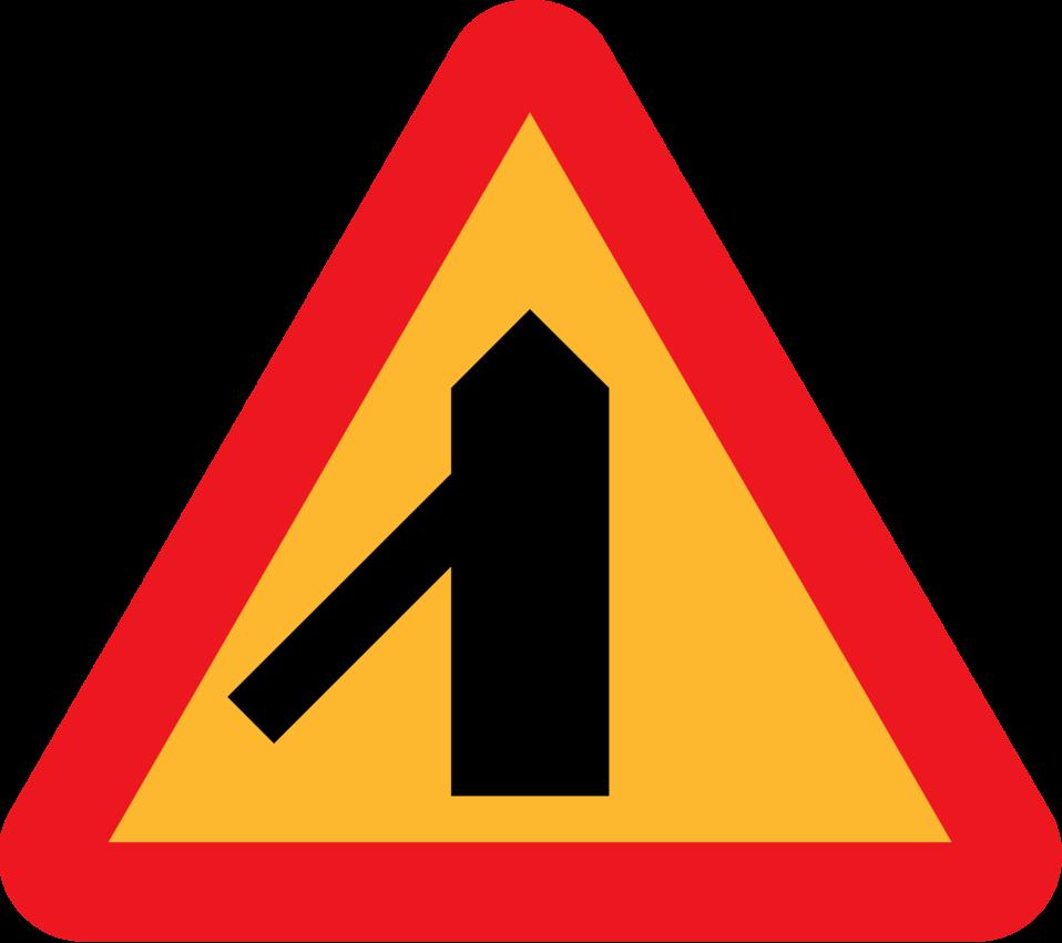 Roadlayout sign 6
