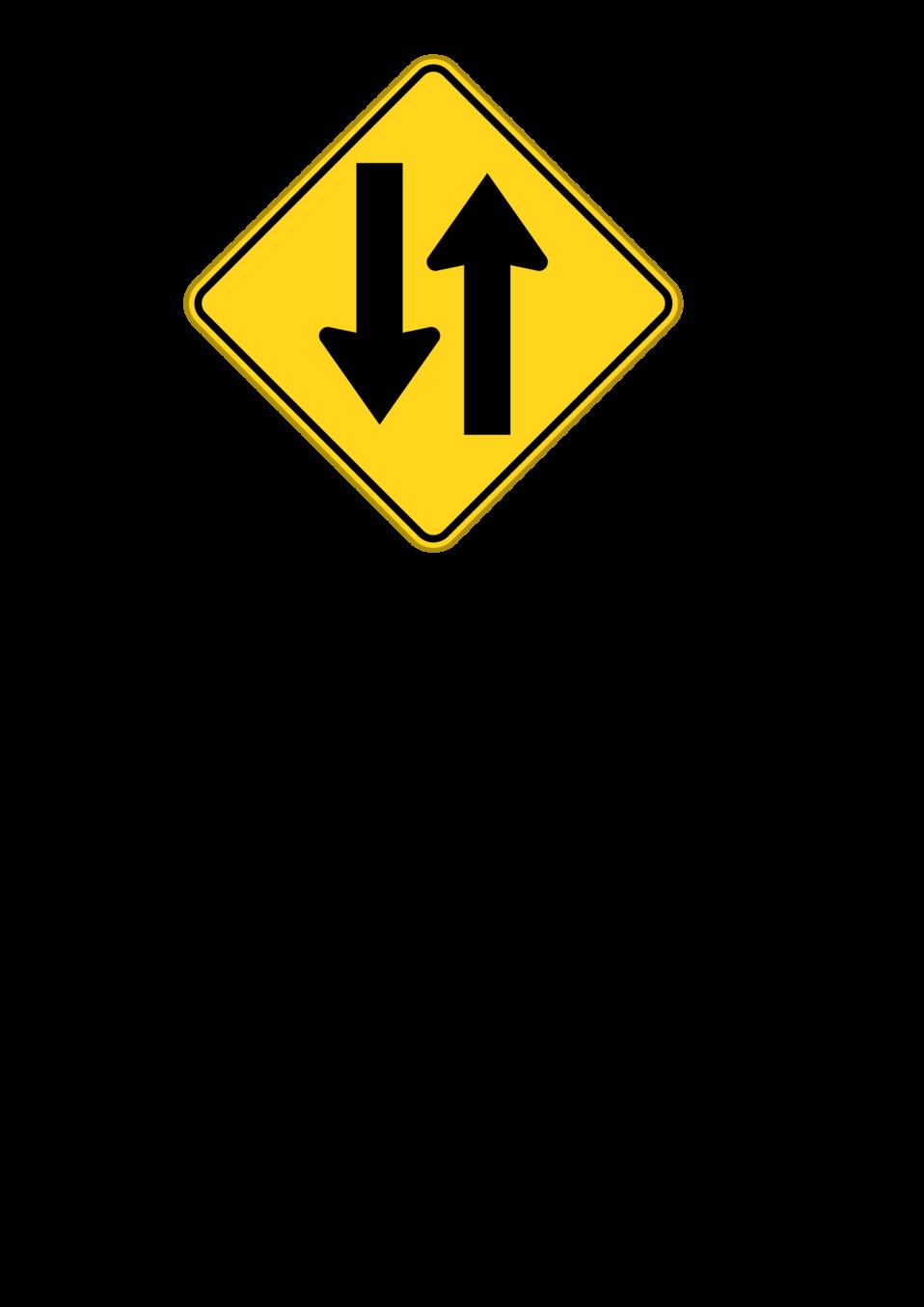 to way warning sign
