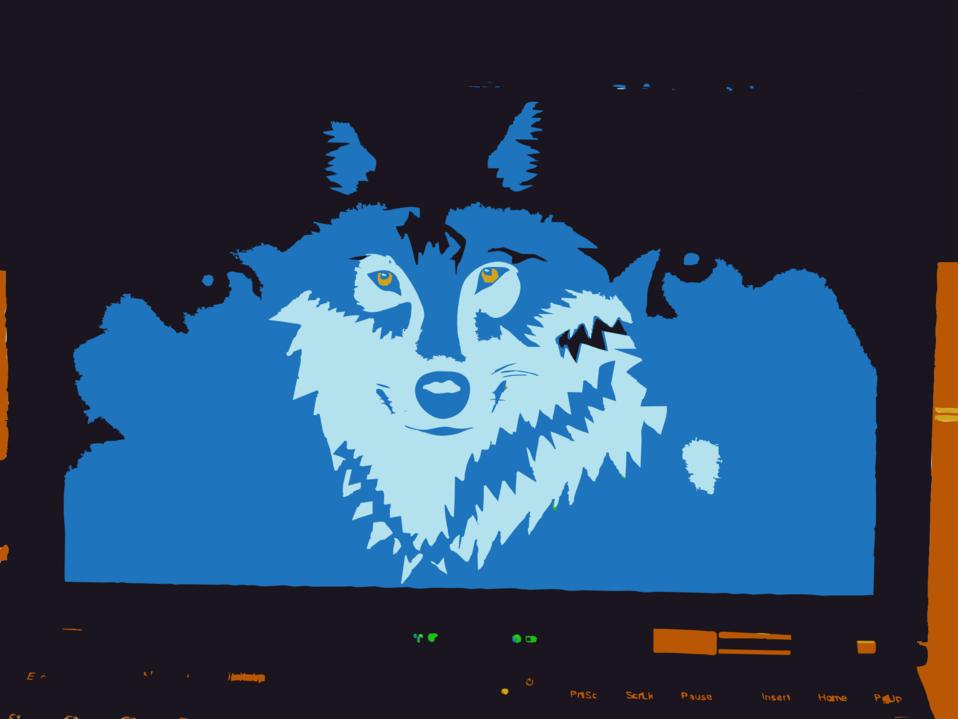 Wolf remix from camera to vector