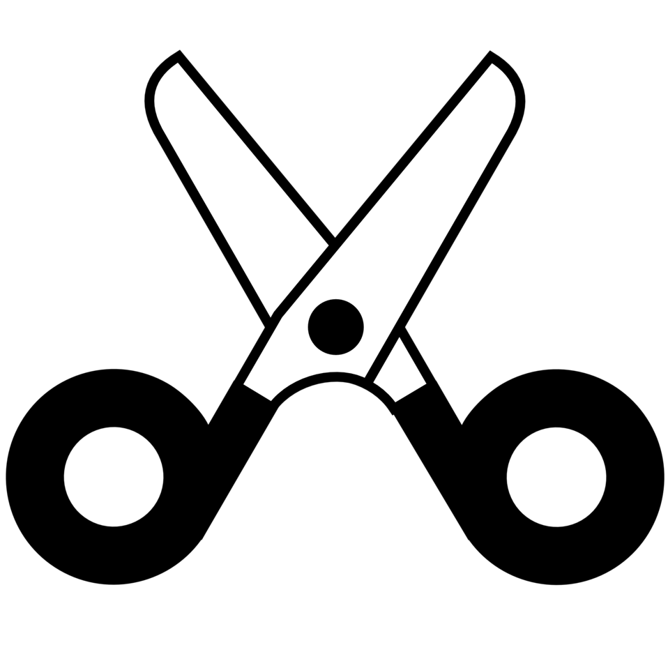 scissors open icon