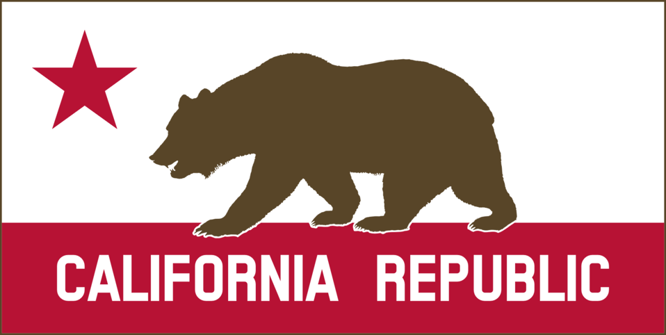 California Banner Clipart A (Solid)