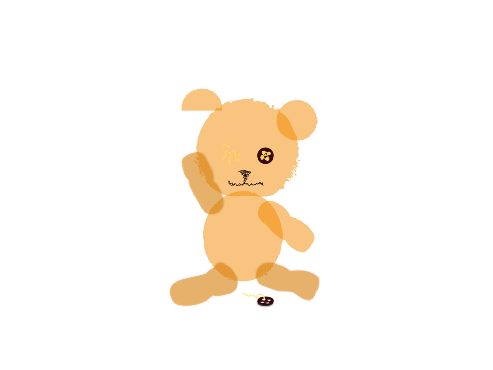 canvas Teddy Bear