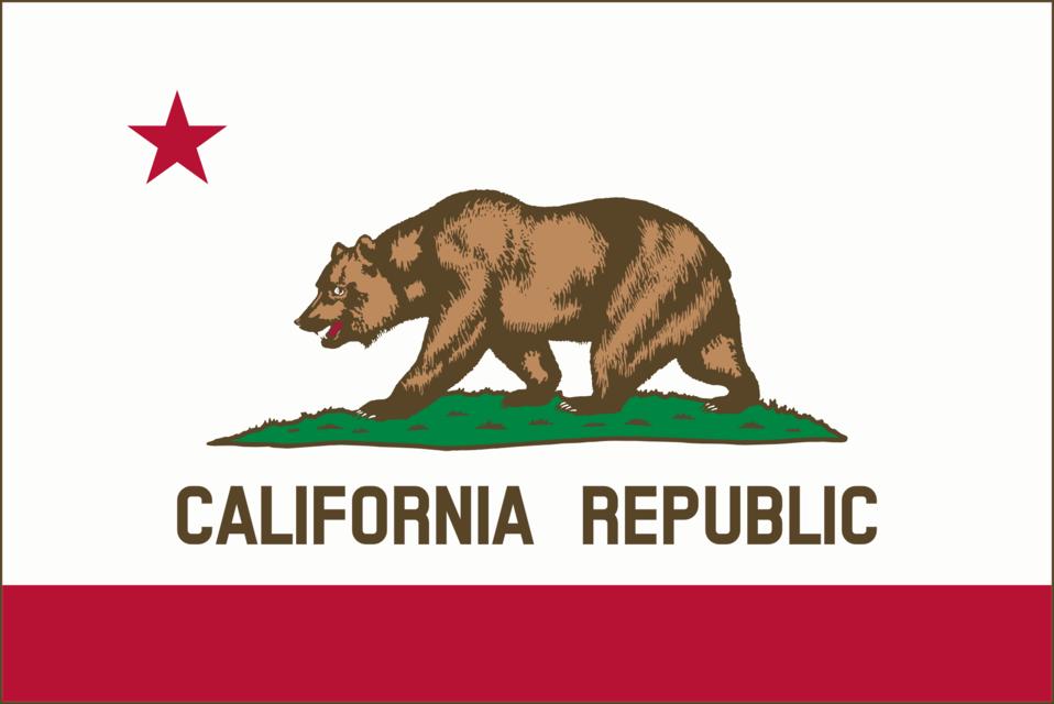Flag of California (thin border)