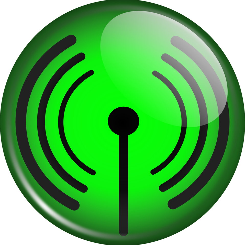 Glassy WiFi symbol