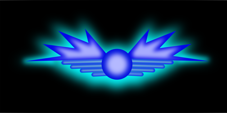 Glowing Wing Symbol
